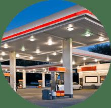 Retail forecourt for fuel dispensing