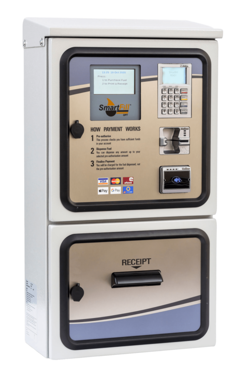SmartFill outdoor payment terminal for fuel management